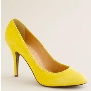 J. Crew Mona Italian suede heels